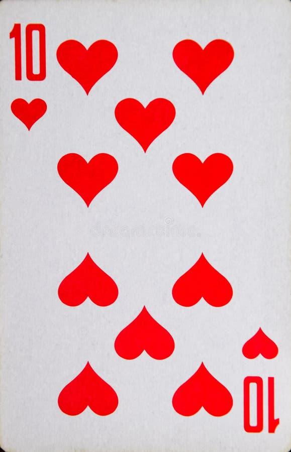 Speelkaart van een dozijn harten, kostuum van harten royalty-vrije stock fotografie