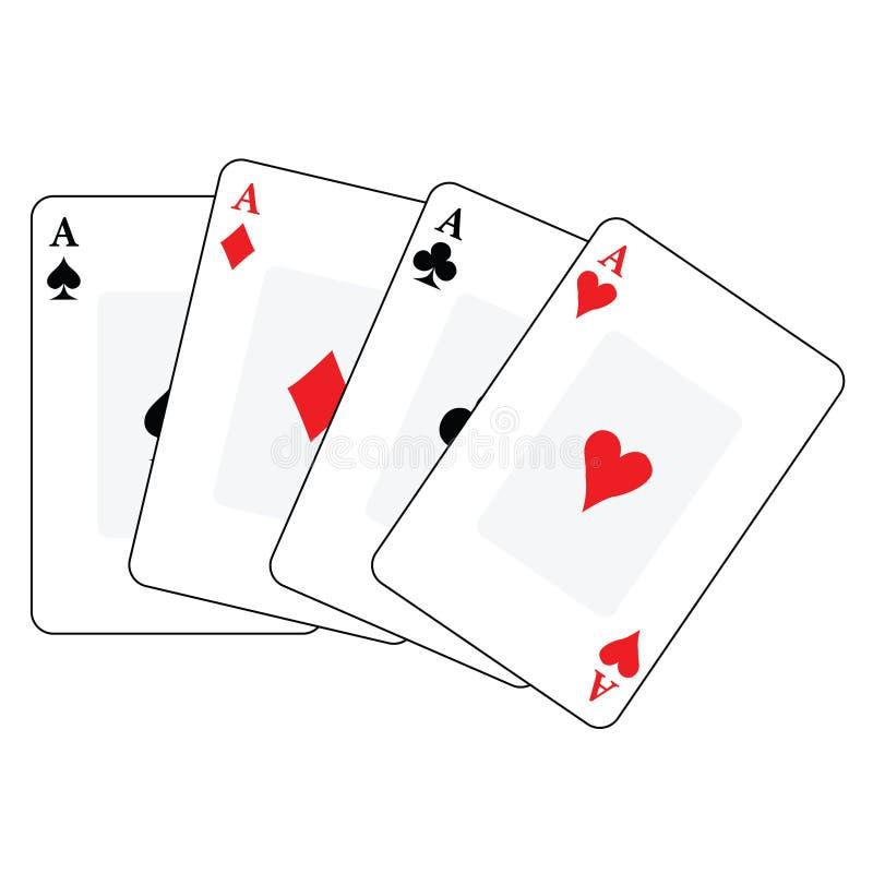 Speelkaarten 1 stock illustratie