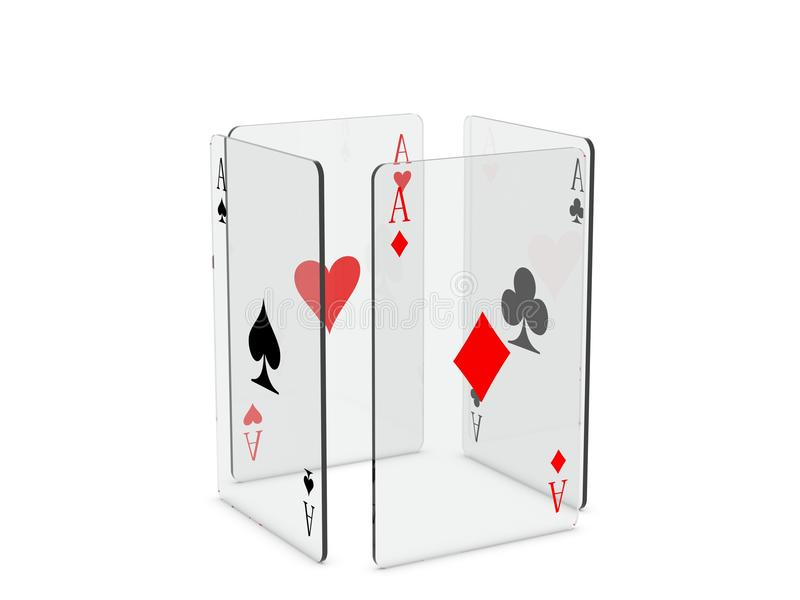 Speelkaarten royalty-vrije illustratie