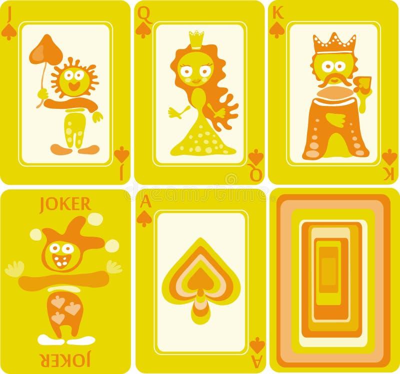 Speelkaarten 6/8 stock illustratie