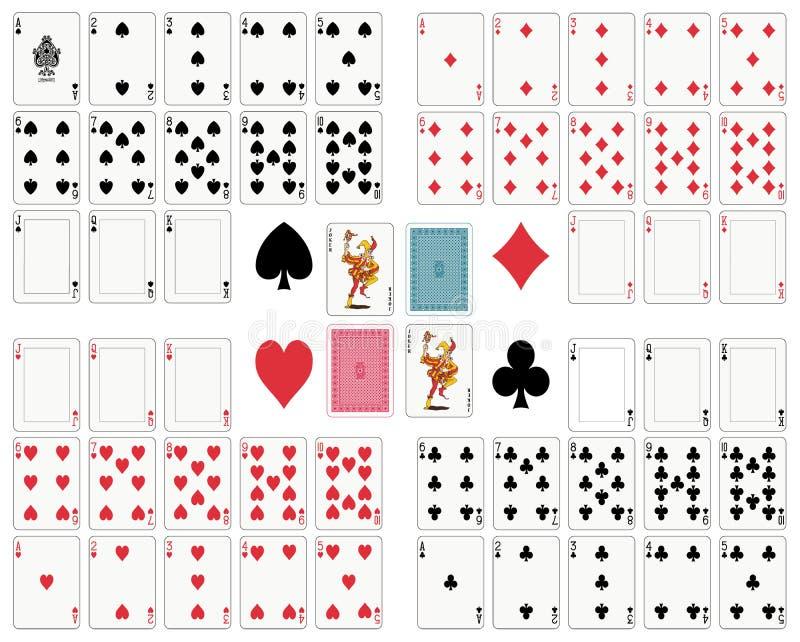 Speelkaarten stock illustratie
