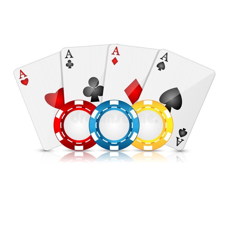 Speelkaarten En Pookspaanders Royalty-vrije Stock Afbeelding