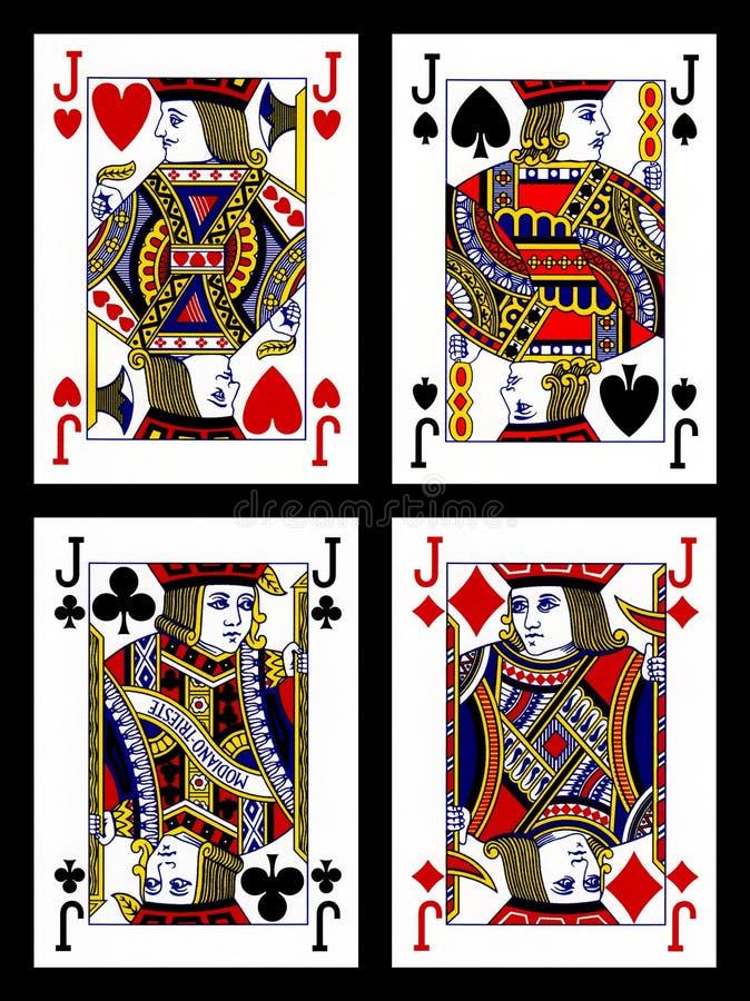 Speelkaarten - hefbomen stock illustratie