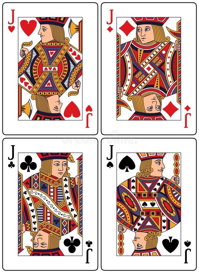 Speelkaarten - Hefbomen vector illustratie