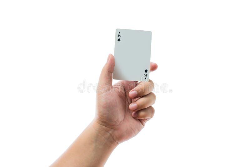 Speelkaarten op witte achtergrond ter beschikking worden geïsoleerd die stock fotografie