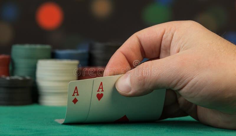 Speelkaarten ter beschikking royalty-vrije stock afbeeldingen