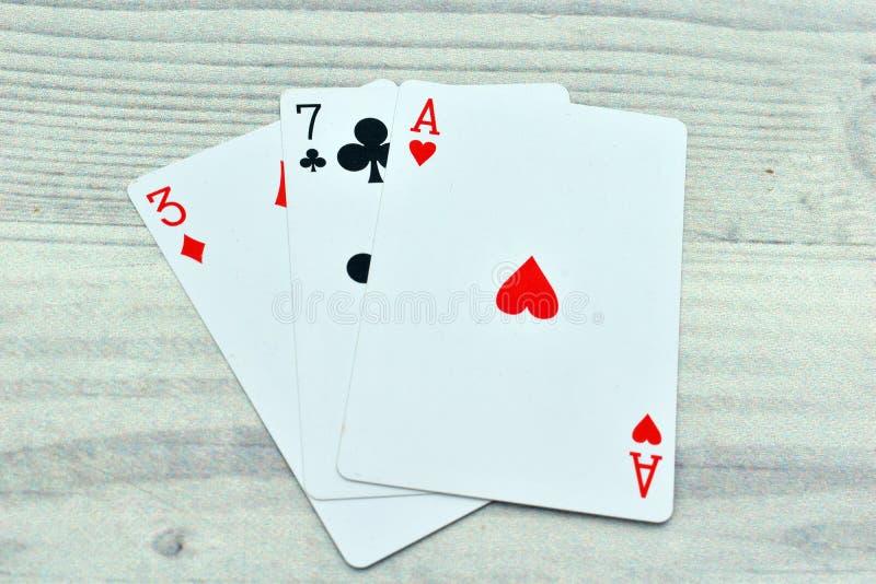 Speelkaarten voor casino royalty-vrije stock afbeeldingen