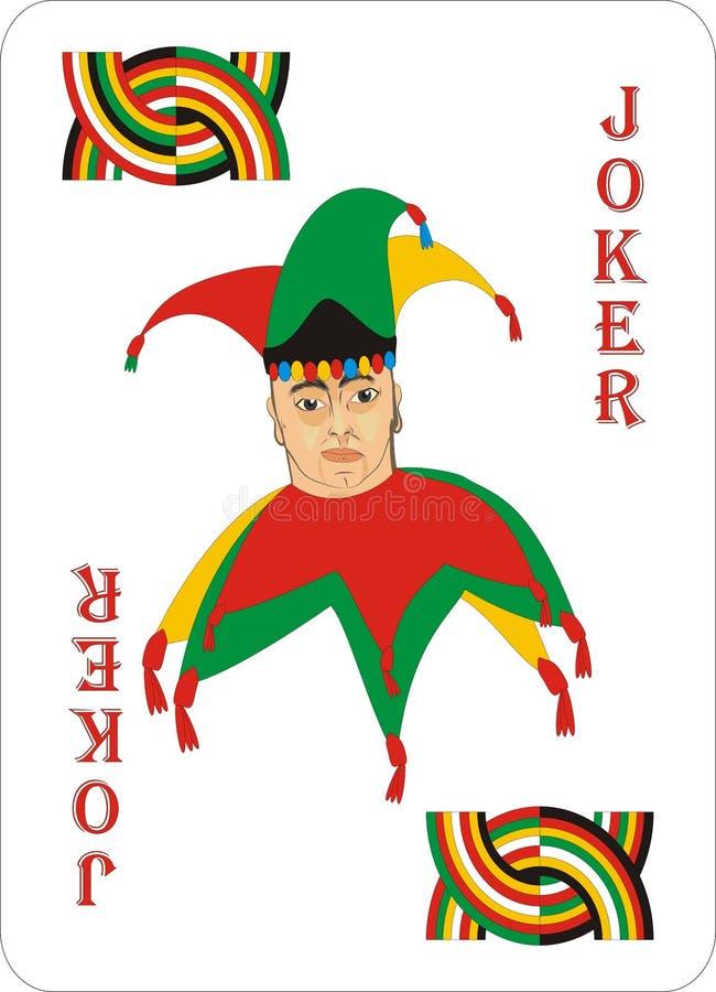 Speelkaarten voor POOK CASSINO - JOKER vector illustratie