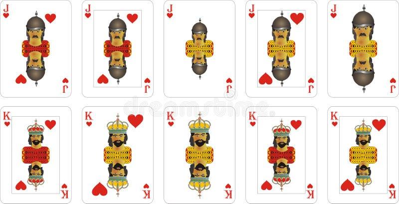 Speelkaarten voor rummy en Cassino royalty-vrije illustratie