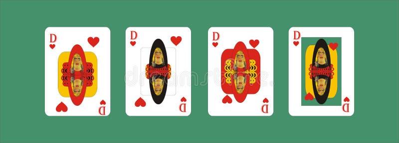 Speelkaarten voor rummy en Cassino stock illustratie