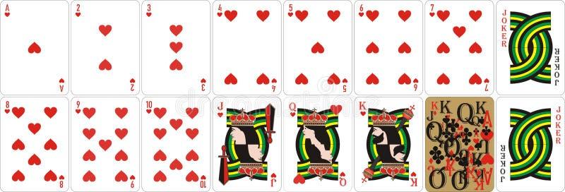 Speelkaarten voor rummy en Cassino vector illustratie