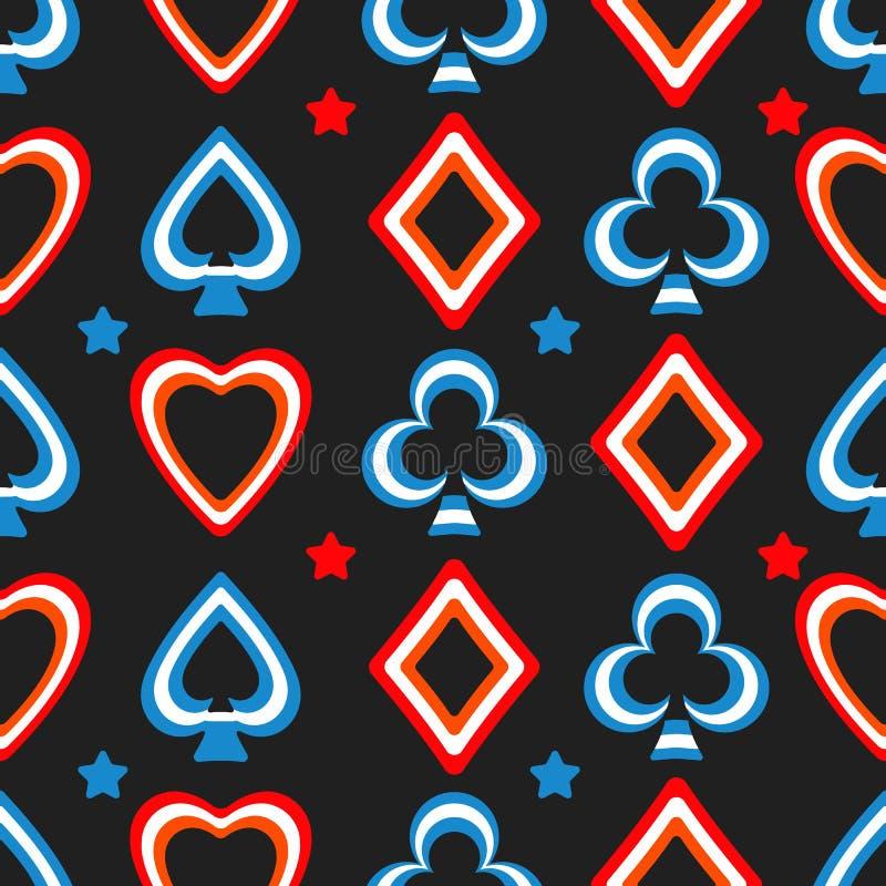 Speelkaartenpatroon royalty-vrije illustratie