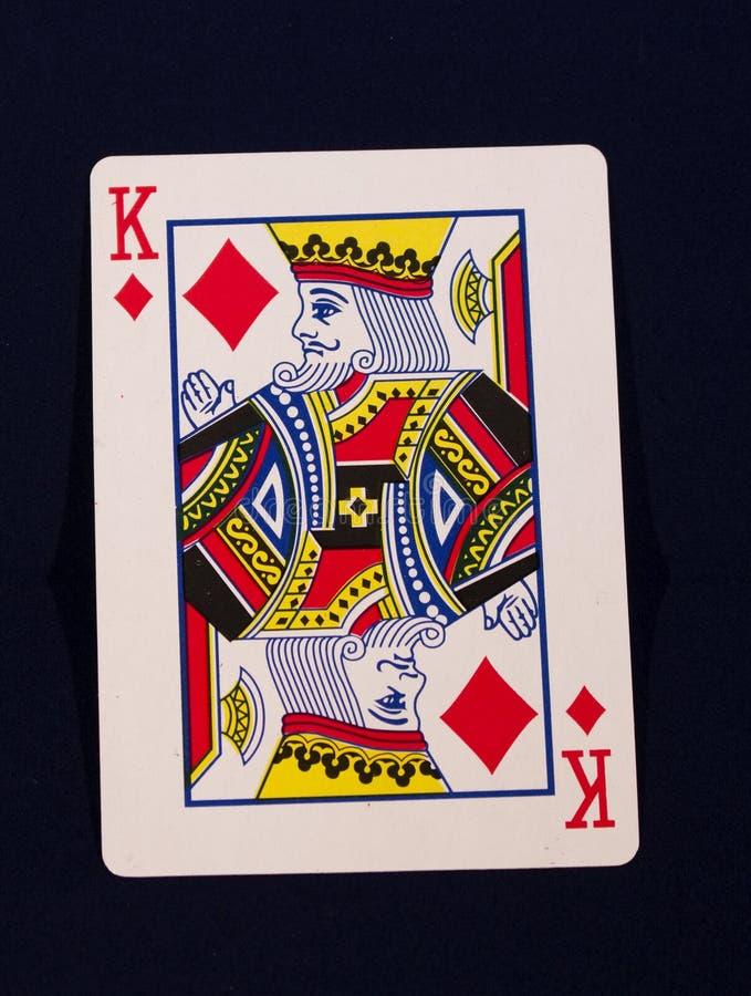 Speelkaartkoning van Diamanten royalty-vrije stock afbeeldingen