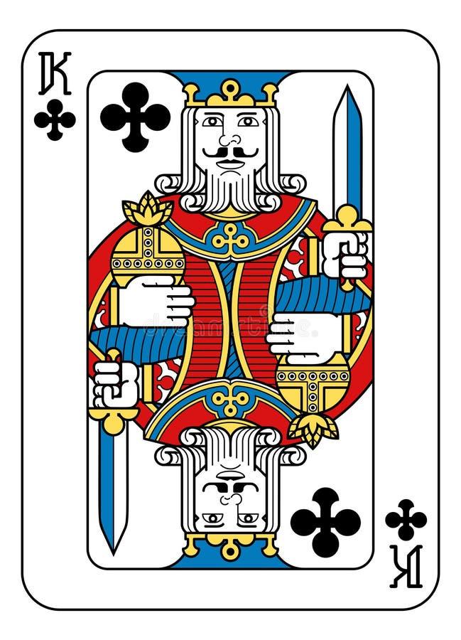 Speelkaartkoning van Spades Gele Rode Blauwe Zwarte stock illustratie