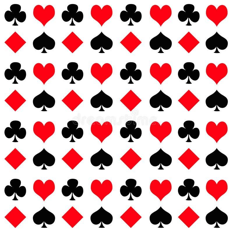 Speelkaartkostuums royalty-vrije illustratie