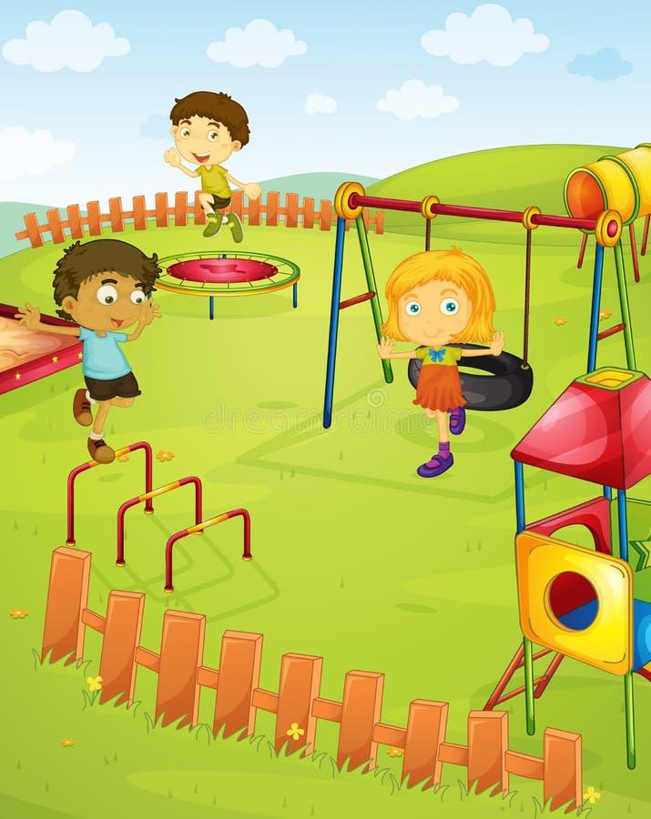 Speelplaats stock illustratie