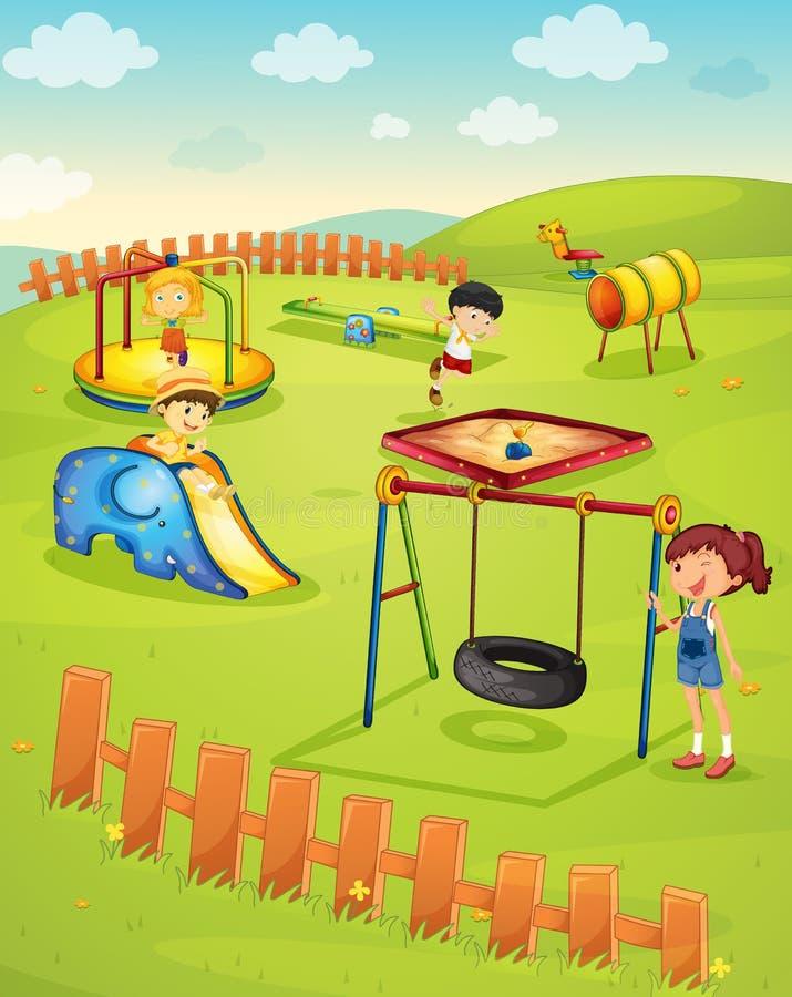 Speelplaats vector illustratie