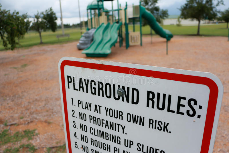 Speelplaatsregels royalty-vrije stock foto's