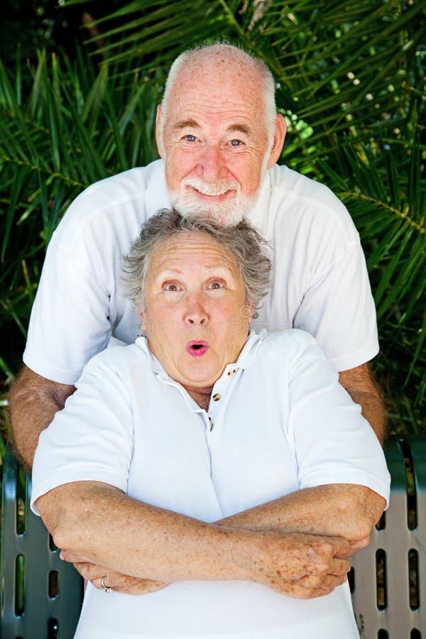 Speels Paar dat - kietelt stock afbeeldingen