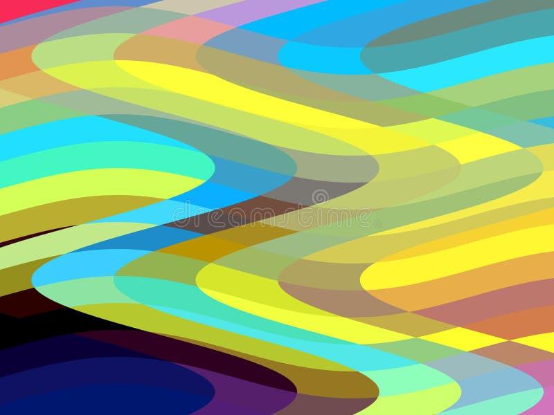 Speelse kleuren, meetkunde, abstracte achtergrond, grafiek, abstracte achtergrond en textuur stock illustratie