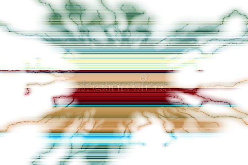 Speelse kleurrijke vormen in groene rode tinten, abstracte achtergrond vector illustratie