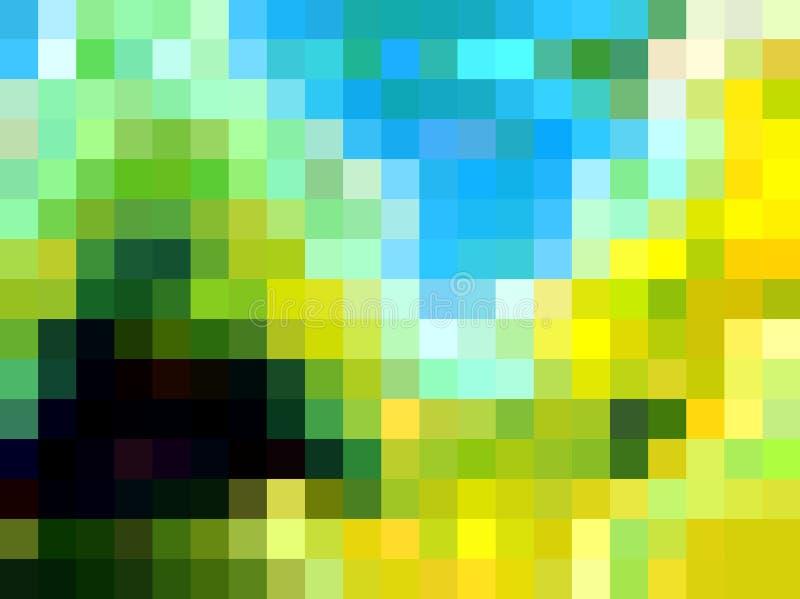 Speelse levendige gele blauwe meetkunde, abstracte achtergrond, grafiek, abstracte achtergrond en textuur vector illustratie