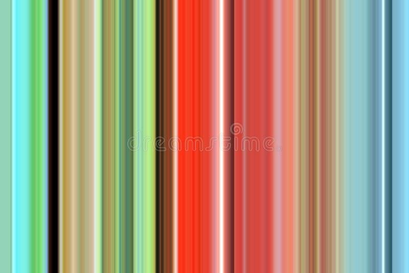 Speelse levendige lijnen in blauwe, oranje, groenachtig blauwe tinten Achtergrond stock illustratie