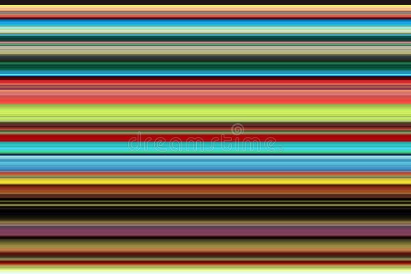 Speelse levendige lijnen in rode, groenachtig blauwe tinten Achtergrond royalty-vrije illustratie