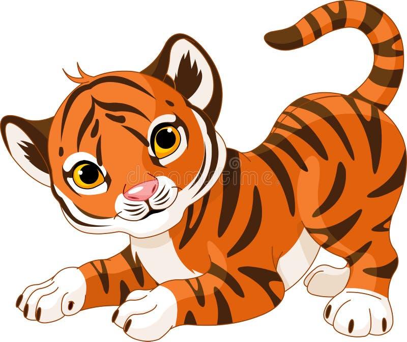 Speelse tijgerwelp stock illustratie