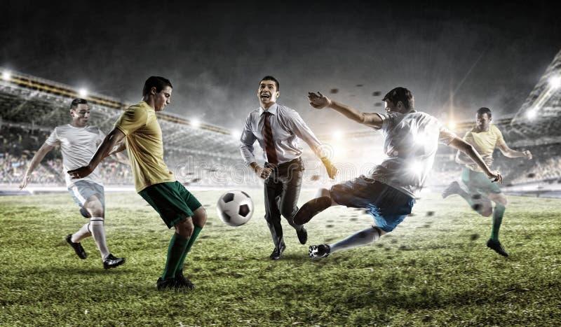 Speelteamspelen Gemengde media stock fotografie