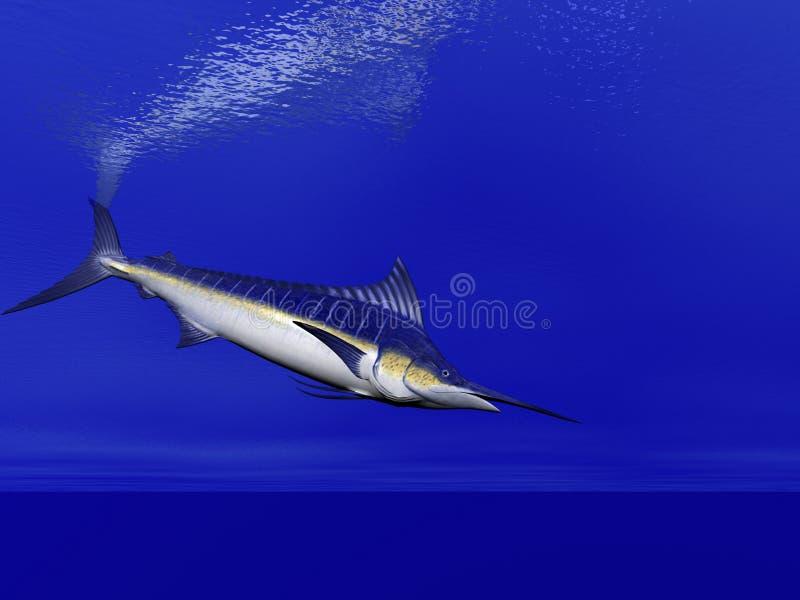 Speerfisch-Schwimmen vektor abbildung