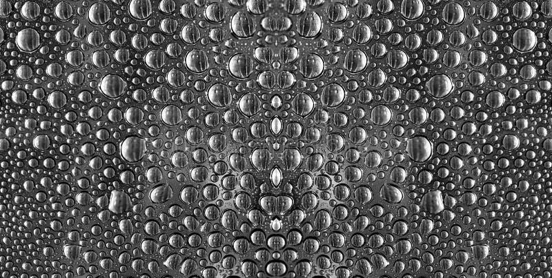 Spegelförsett bevattna liten droppe royaltyfria bilder
