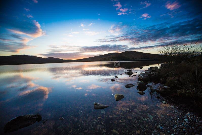 Spelga Dam At Sunset stock photo