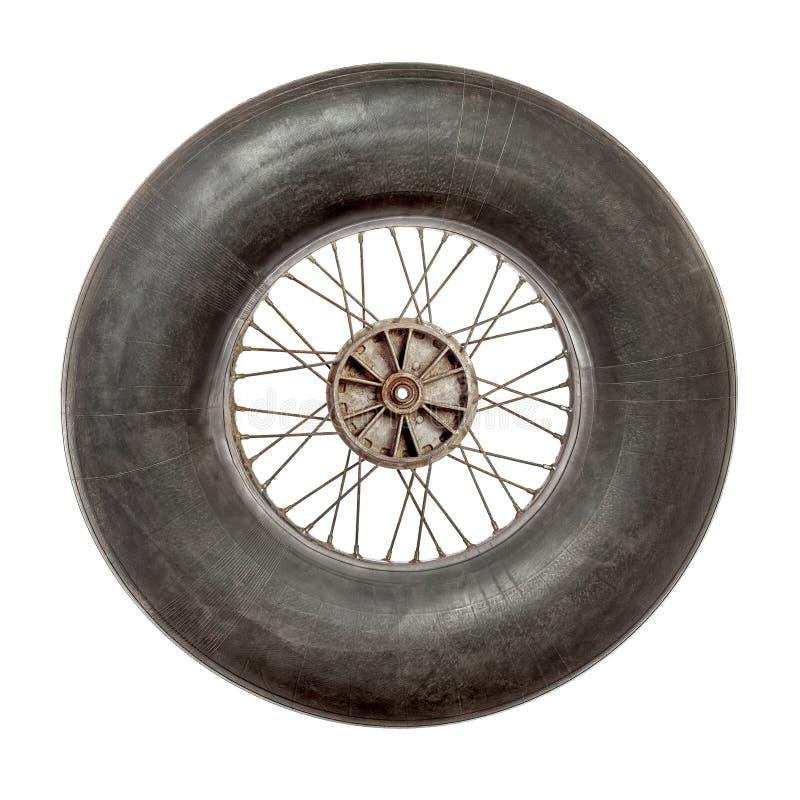 Speichenrad mit aufgeblähtem Reifenrohr lizenzfreies stockbild
