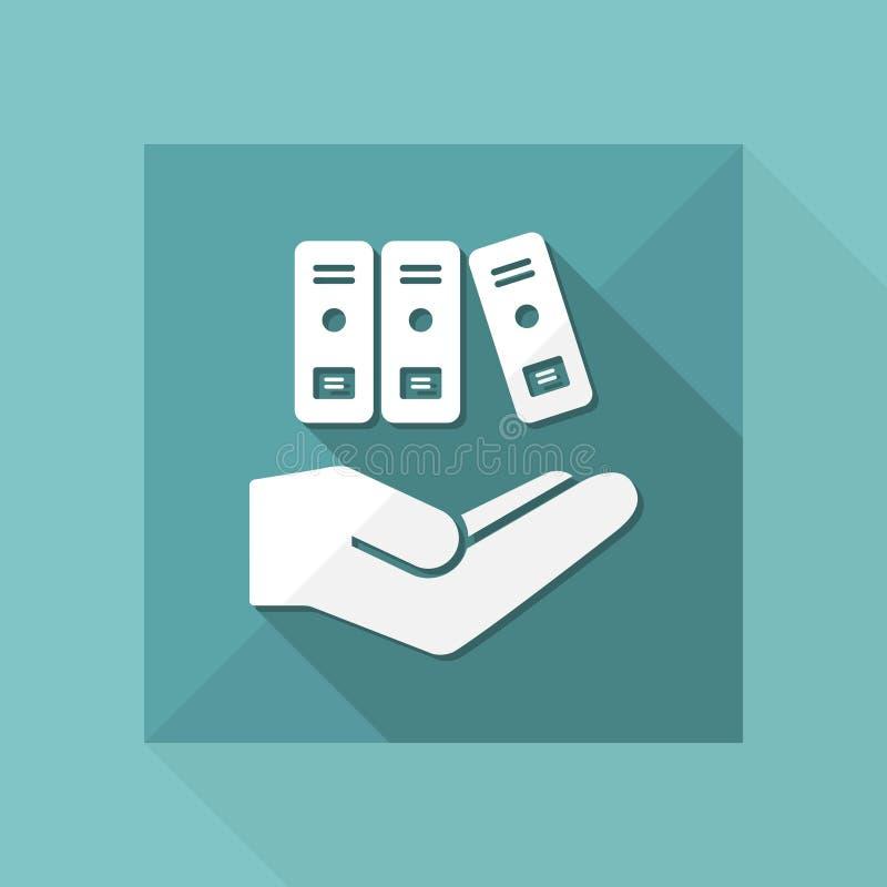 Speicherdienstleistungen - minimale moderne Ikone vektor abbildung