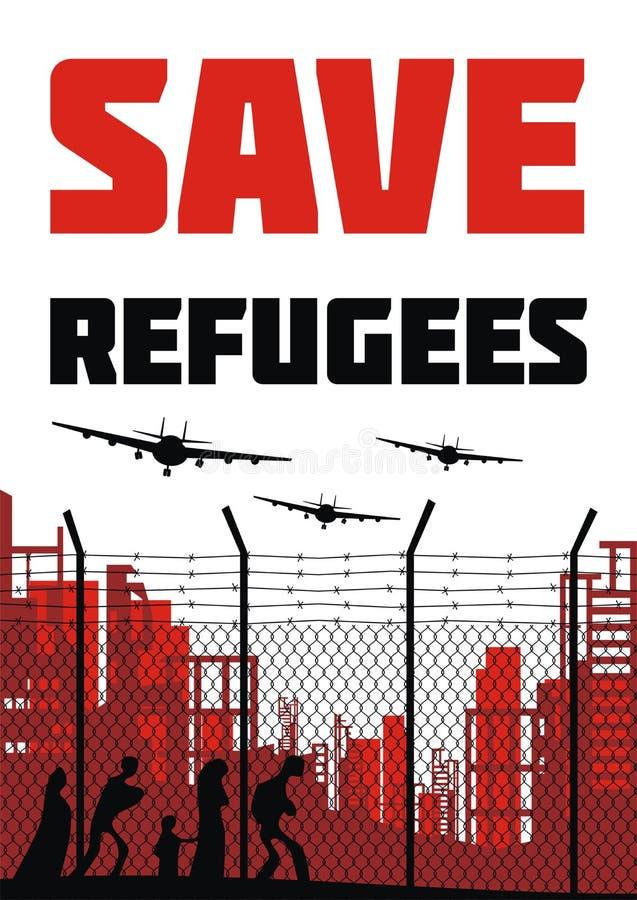 Speichern Sie Flüchtlingsplakat stock abbildung