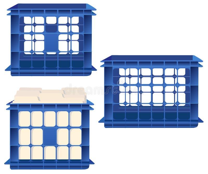 Speicherrahmen und Datei-Faltblätter lizenzfreie abbildung