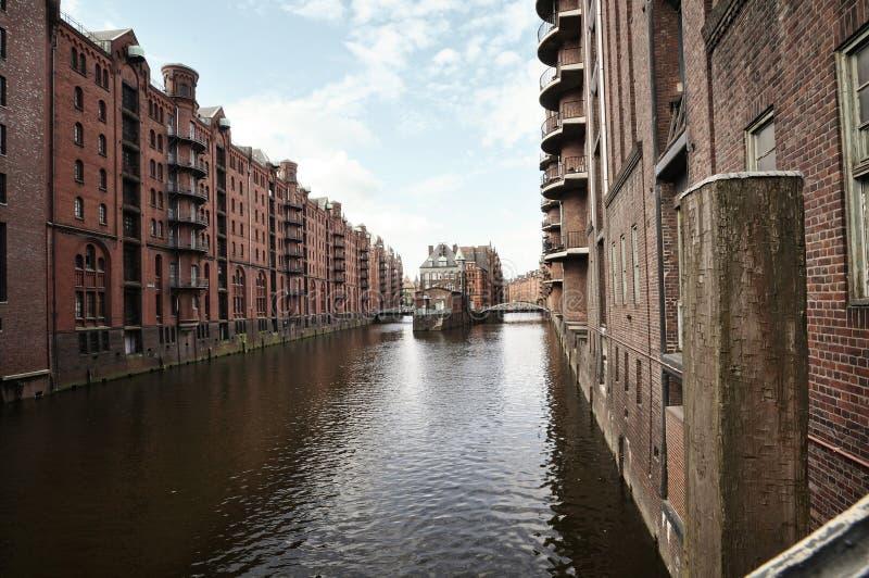 Speicherstadt à Hambourg, Allemagne image stock