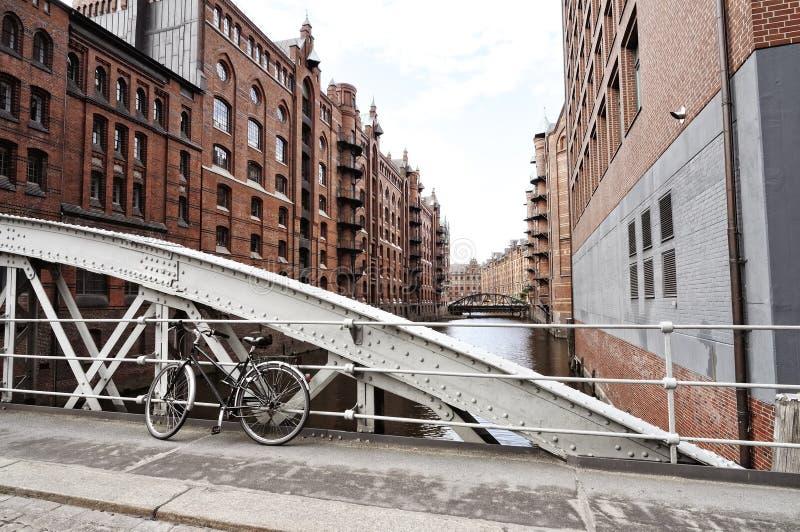 Speicherstadt à Hambourg, Allemagne images libres de droits