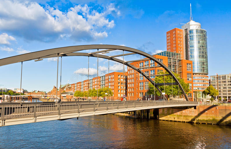 Speicherstadt district in Hamburg, Germany. In July 2015 this largest warehouse district in the world received the UNESCO world heritage status royalty free stock image