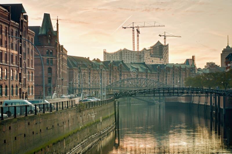 Speicherstadt en Hamburgo foto de archivo libre de regalías