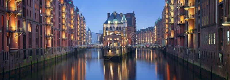 Speicherstadt Hamburg. royaltyfri fotografi