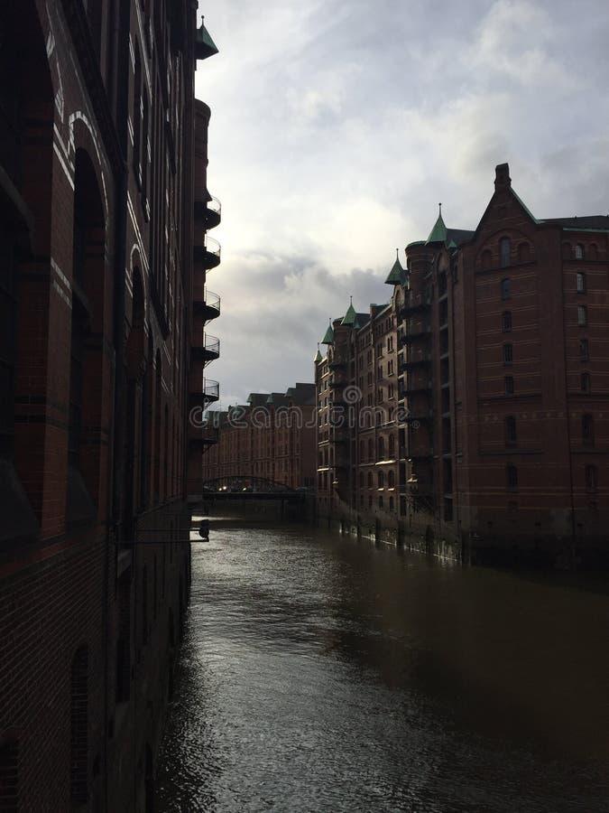 Speicherstadt in Hamburg, Deutschland stockfotografie