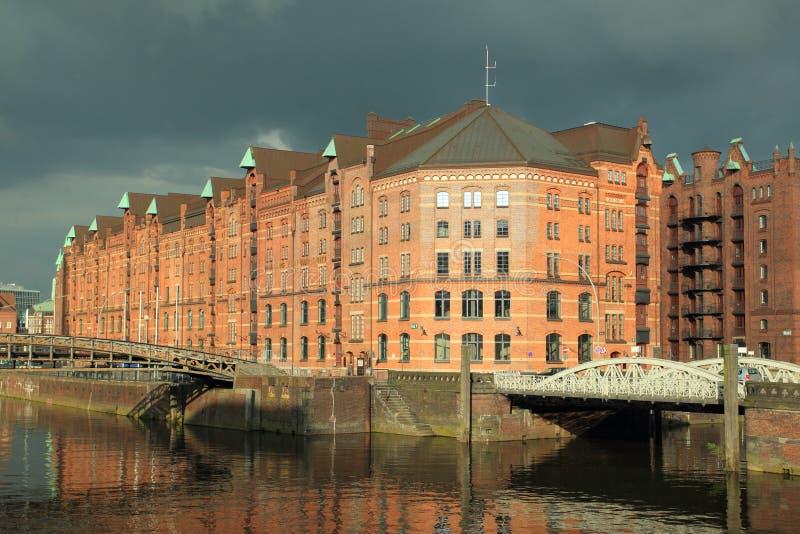 Speicherstadt in Hamburg stock photo