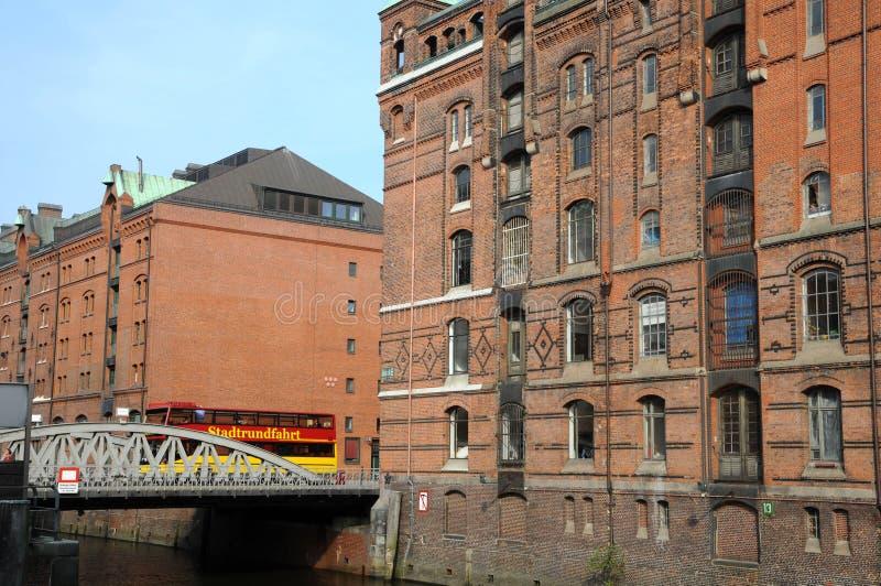Speicherstadt/Lagerhäuser in Hamburg lizenzfreie stockbilder