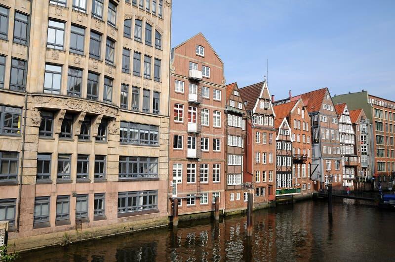Speicherstadt, storehouses w Hamburg/ obrazy stock
