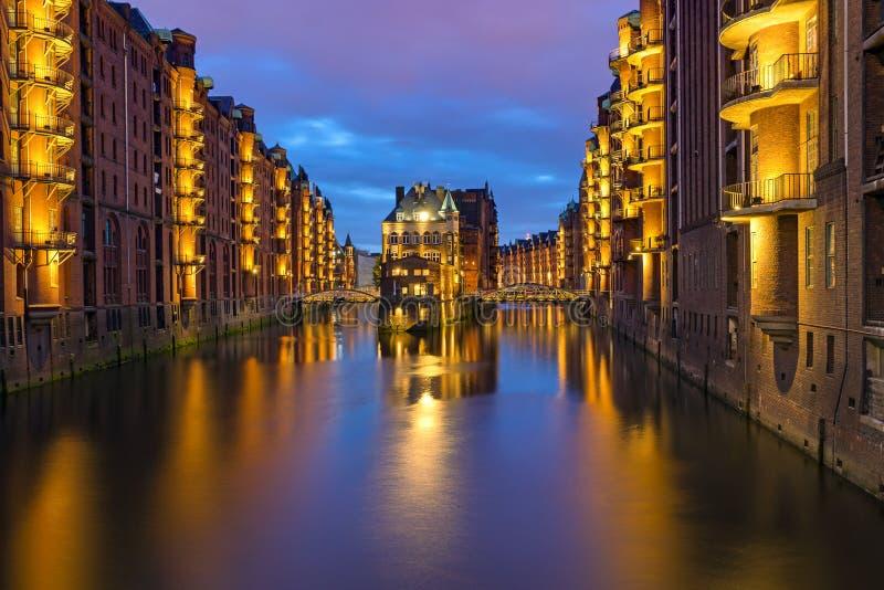 Speicherstadt storico a Amburgo fotografia stock libera da diritti