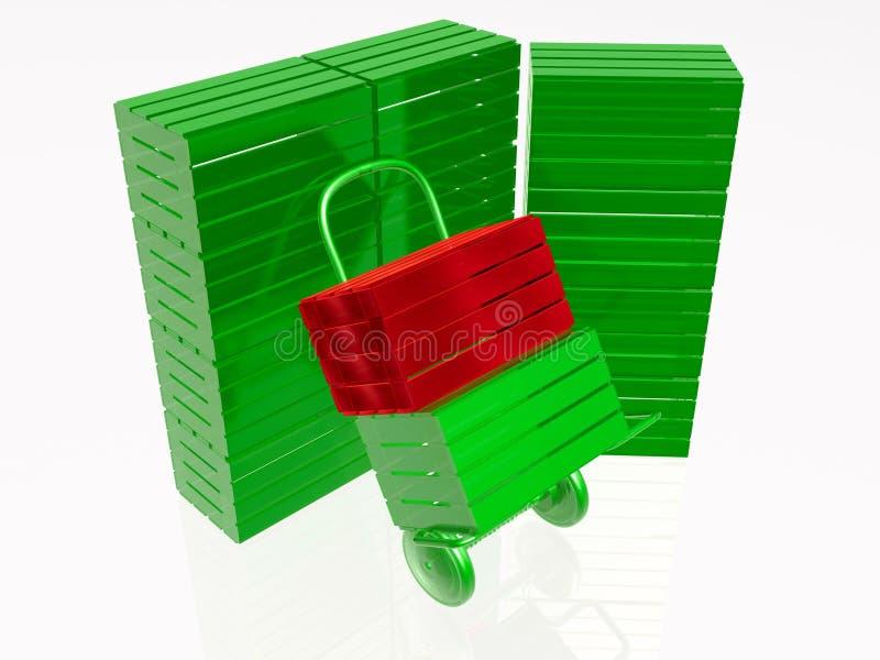 Speicherung stock abbildung