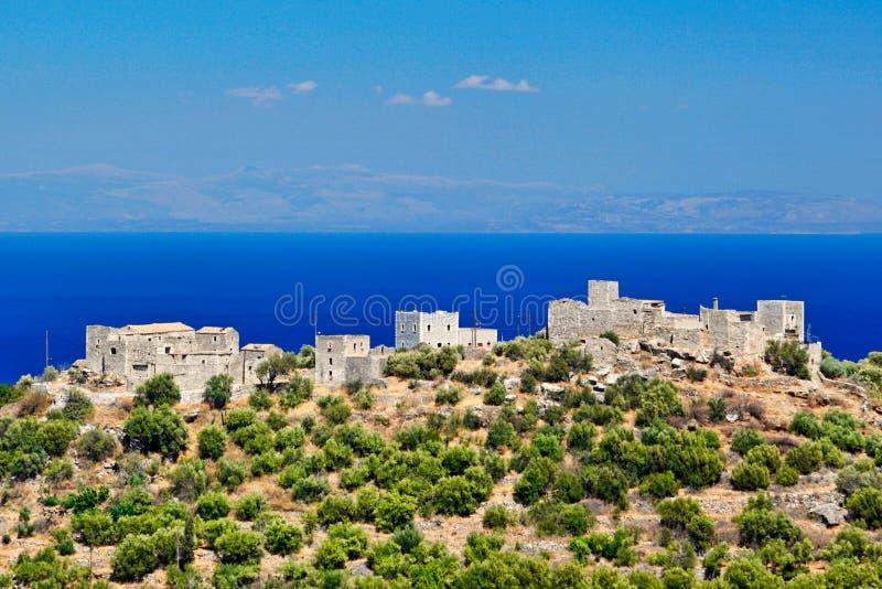 Speira in Mani, Griekenland royalty-vrije stock afbeeldingen