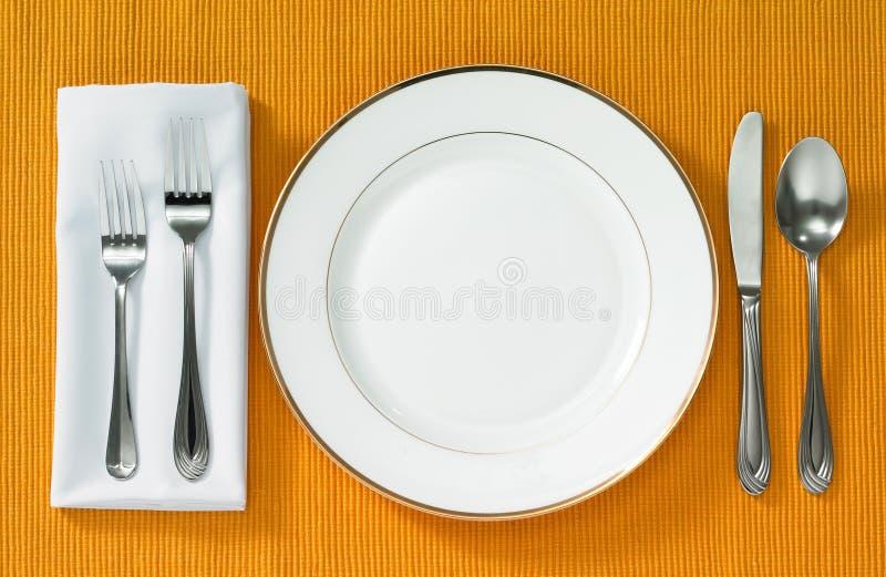 Speisen der Einstellung lizenzfreies stockbild